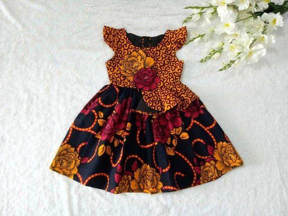 Toddler Dress, Danshiki Dress For Girls, Cotton Su