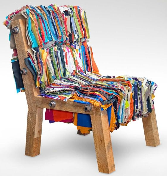 Ultra Cool Fun Creative Interior Design: Cool Chair From Old Fabric Scraps (projects, Crafts, DIY