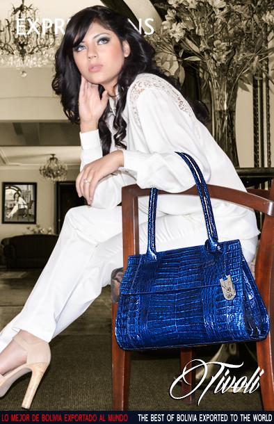 Lujosa Cartera en piel de Cocodrilo #handbag #crocodile