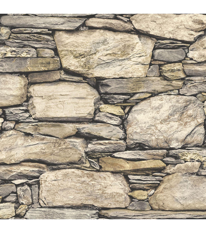 Stick On Wall Paper wallpops® nuwallpaper™ peel and stick wallpaper-hadrian stone