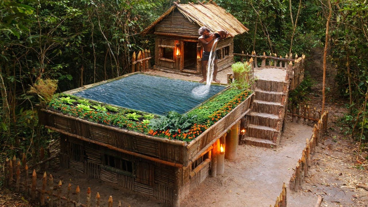Build Technologically Modern Forest Houses With Garden And