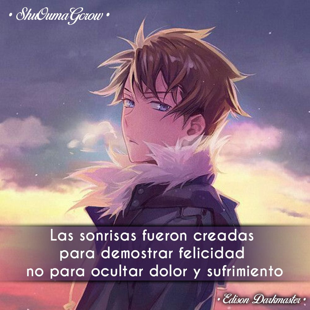 Las Sonrisas Shuoumagcrow Anime Frases Anime Frases