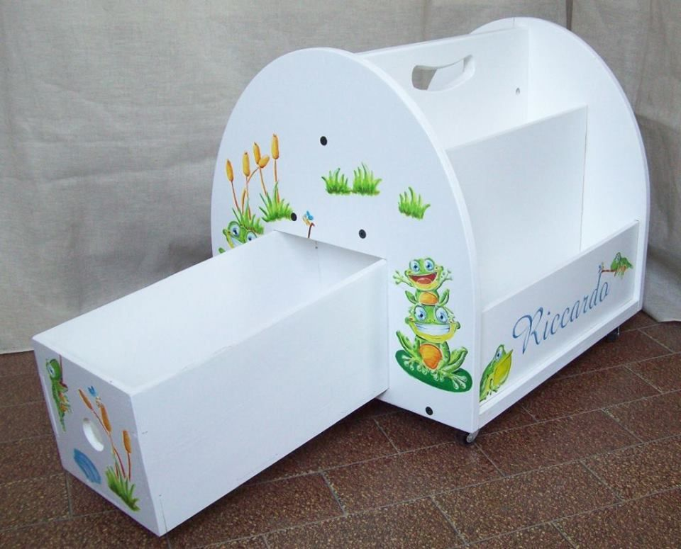 Arredamento Montessori ~ Libreria in legno per bambini in stile montessori mobile