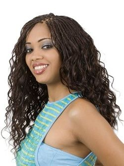 Wet And Wavy Braids Micro Braids Styles Hair Styles Braided