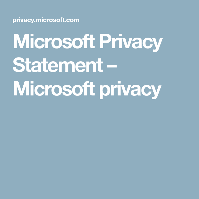 Microsoft Privacy Statement  Microsoft Privacy  Worded