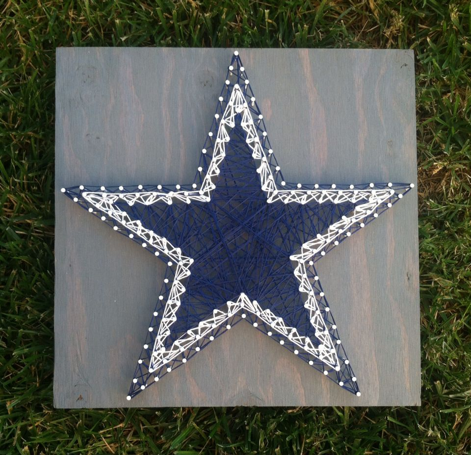 12x12 dallas cowboys star string art basement ideas On dallas cowboys arts and crafts
