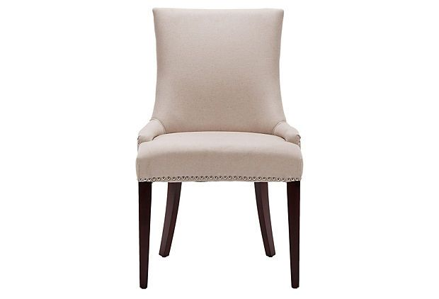 I know we decided on the other chairs. i posted these just in case we aren't able to get them.  Hayward Dining Chair, Beige on OneKingsLane.com