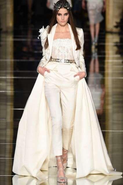 Vestiti da sposa Haute Couture Primavera-Estate 2016 - Look moderno da sposa  Zuhair Murad e41360a17d4