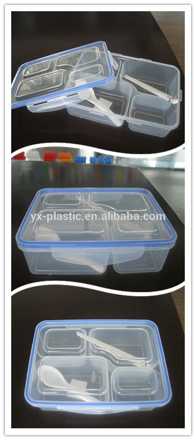 627ee095b693 4 compartment lunch box,plastic food container with divider for kids ...