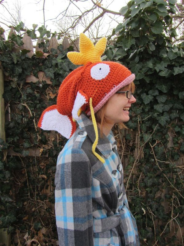 Crocheted Pokémon Magikarp Hat Might Swallow Your Head  3ea19604863