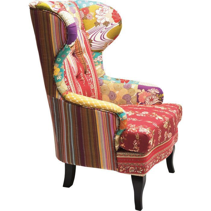 Patchwork Red Wing Chair In 2019 Armchair World Market