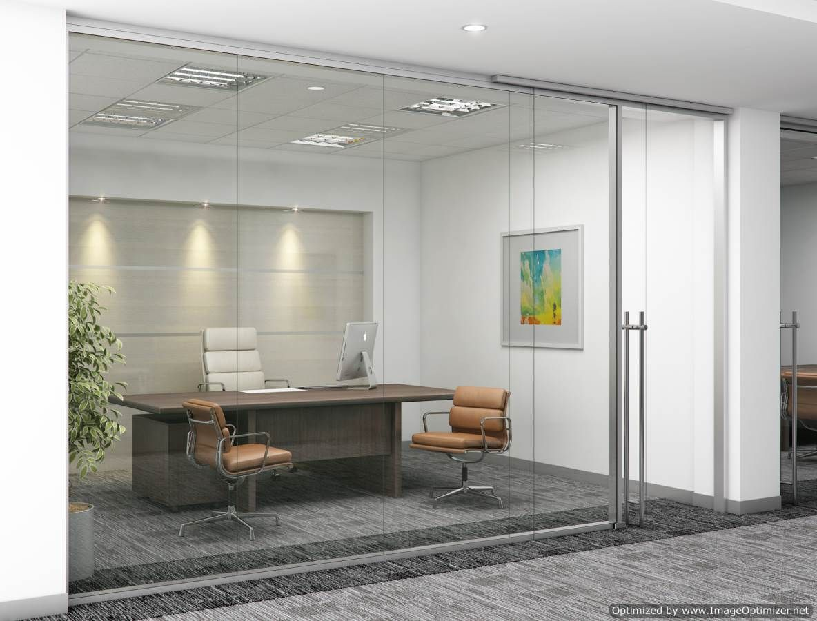 glass wall office. Frameless Glass Demountable Wall System By Dynamic Hive Offers A New, Clean And Open Feel Office