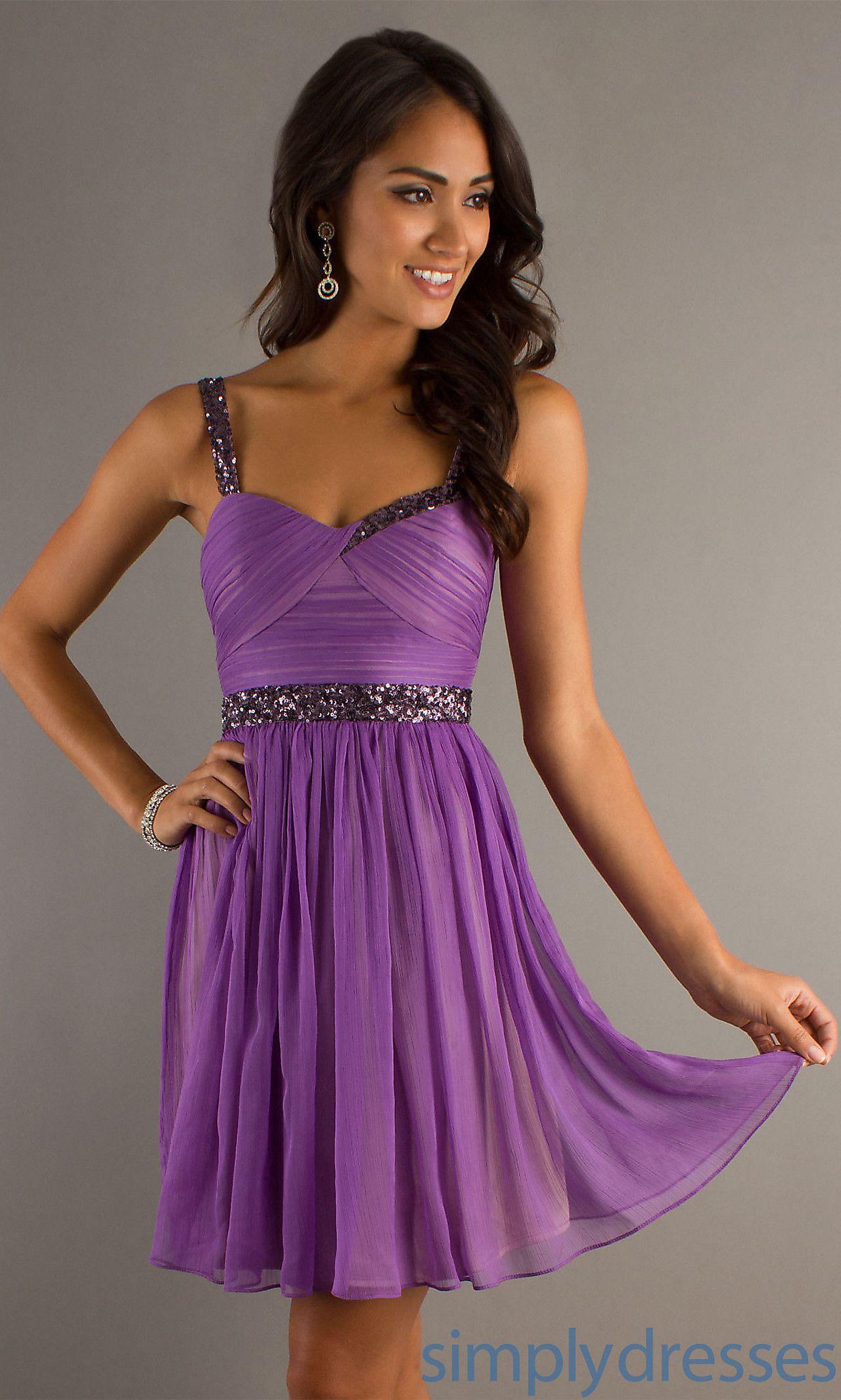 Purple Short Semi-Formal Dress MT-MD-5638 | Cute! | Pinterest