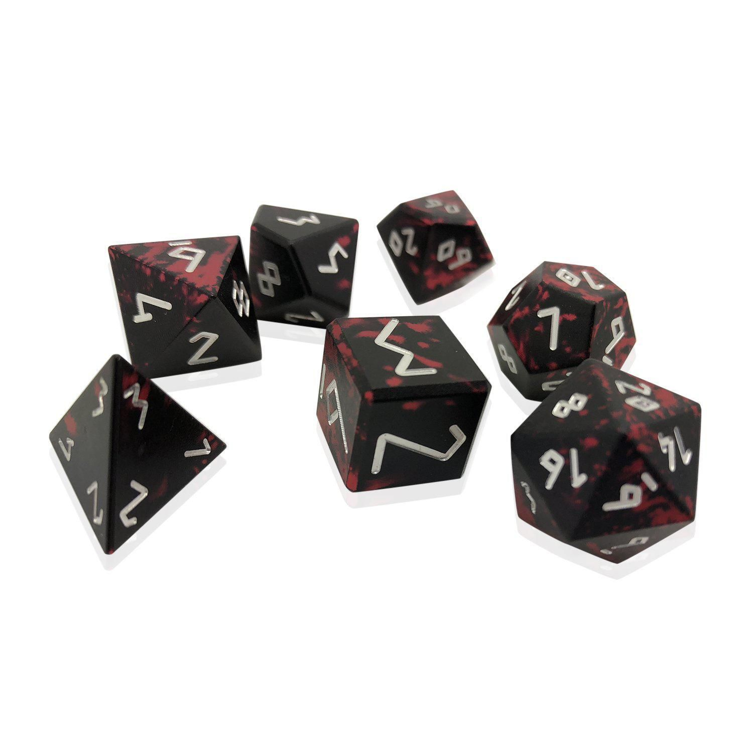 Demons Blood Wondrous Dice Norse Font Set Of 7 Rpg Dice By