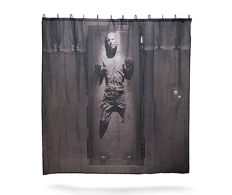 Han Solo Frozen In Carbonite Shower Curtain Star Wars Bathroom