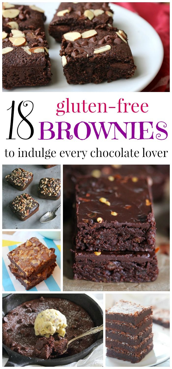 18 Gluten Free Brownies to Indulge Every Chocolate Lover - from secretly healthy to downright decadent, these fudgy brownie recipes will blow your mind!