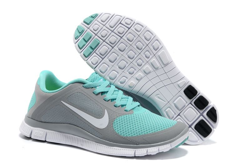 Womens Dark Grey Jade Nike Free 4.0 V3 Running Shoes. (( I want these so bad ))