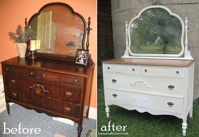 The Two Tone Look Antique Dresser Furniture Restoration