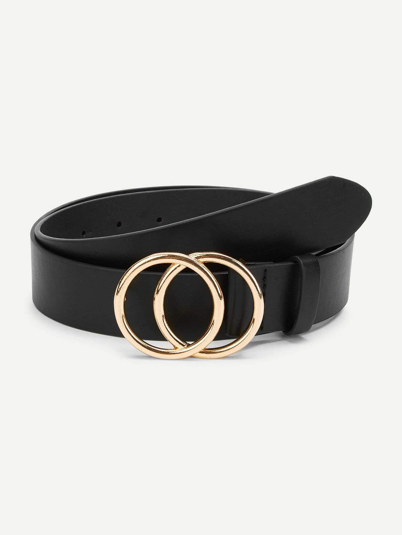 e6d6440c5ae12 double circle buckle belt. #belts #accessories #women #fashion ...