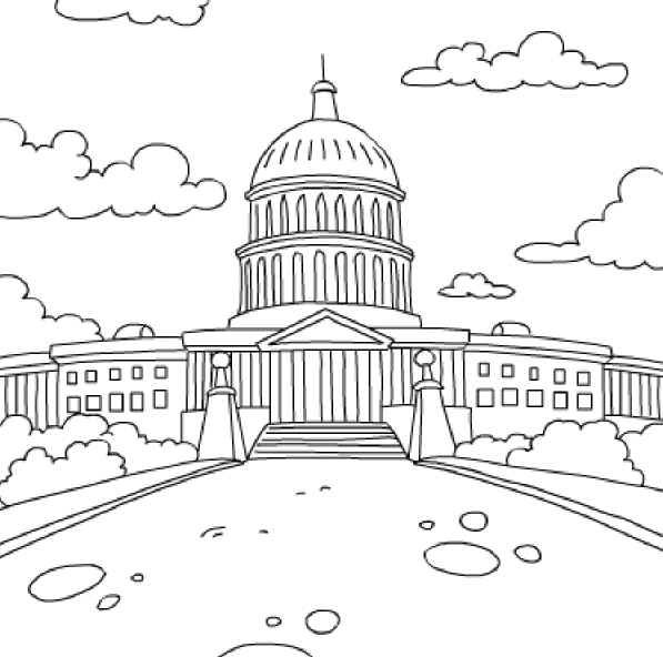 U S A Independence Hall Free Printable Coloring And Activity