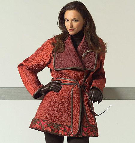 V1024_B_Fall. Out-of-Print Vogue 1024 Coat & Belt Pattern by Sandra Betzina.