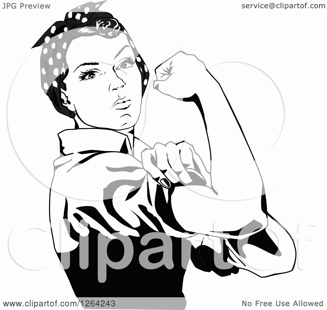Rosie The Riveter Coloring Page Beautiful Clipart Of A Black And
