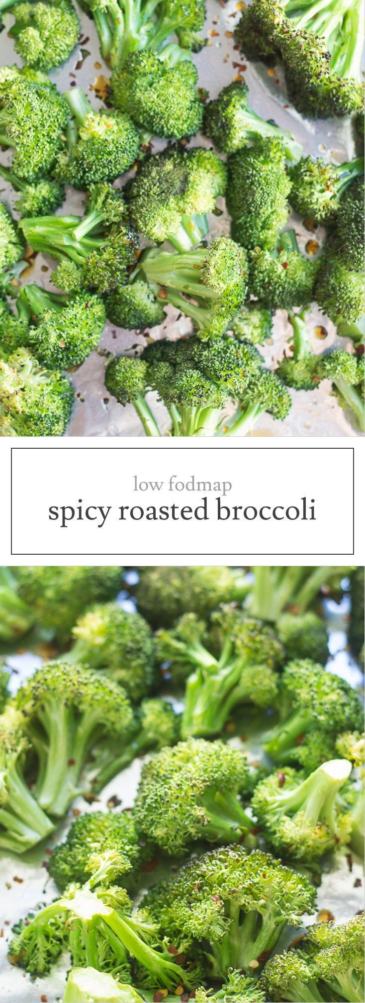 Low Fodmap Spicy Roasted Broccoli Recipe Fodmap Friendly Recipes Low Fodmap Diet Recipes Fodmap