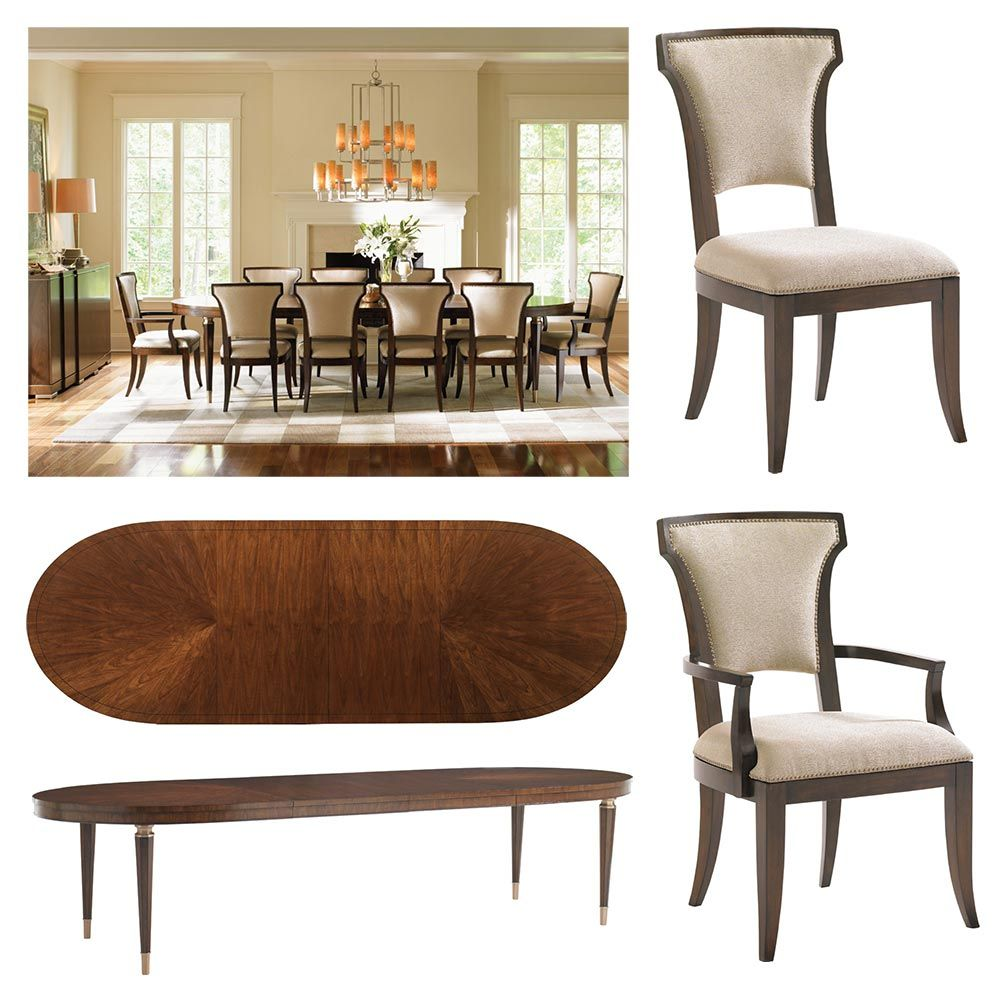 tower place dining collection - drake oval dining table, seneca