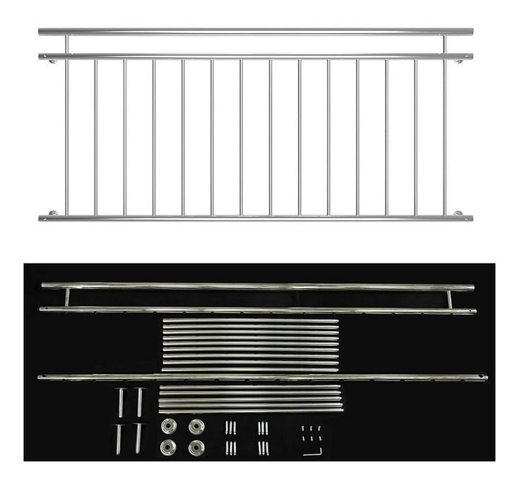 V2A-Balkongeländer 184-cm-Fenster Balkongeländer Geländerstange Edelstahl-Handlaufschutz  MUCOLA #balconybar