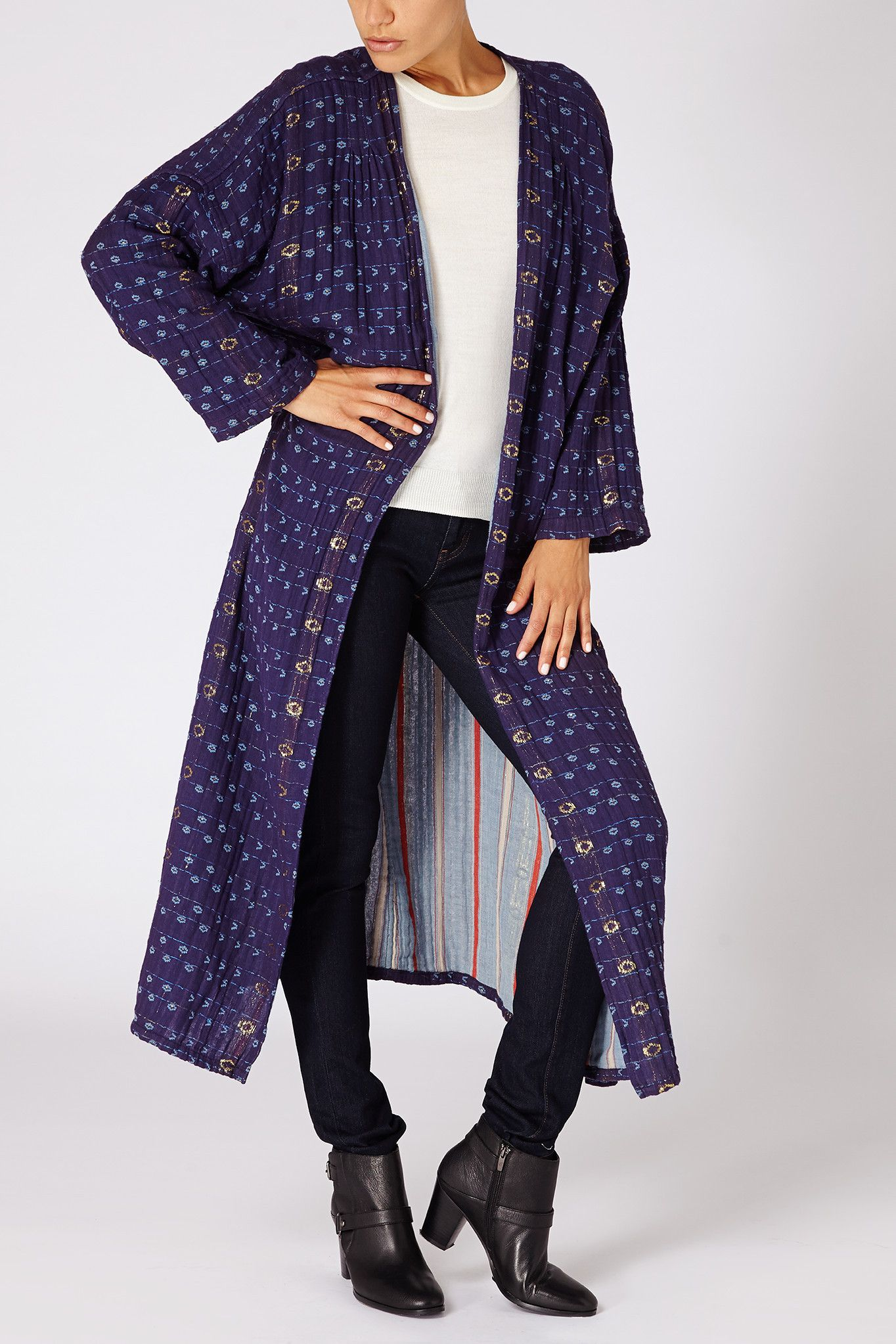 Reverisble Duster in Royal and Jubilee