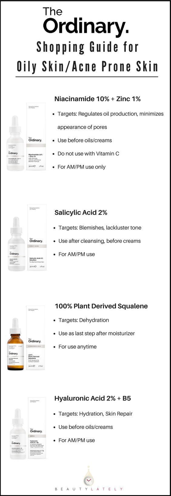 The Ordinary Skincare Guide To Oily Acne Prone Skin Skin Care Guide Oily Skin Acne Normal Skin Care