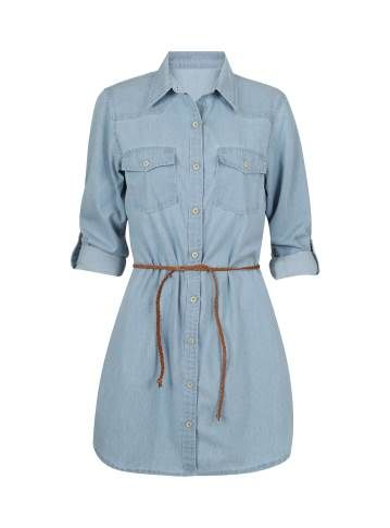 dbbb8efbb65a Vestido camisa jeans claro - Visite Riachuelo.com.br | Products that ...