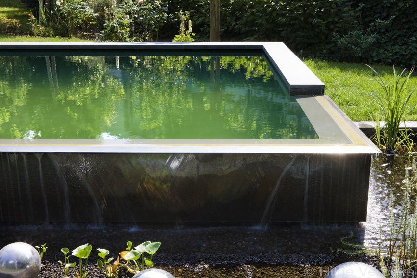 Zwemvijver strakke vorm grijze liner de mooiste for Zwemvijver benodigdheden