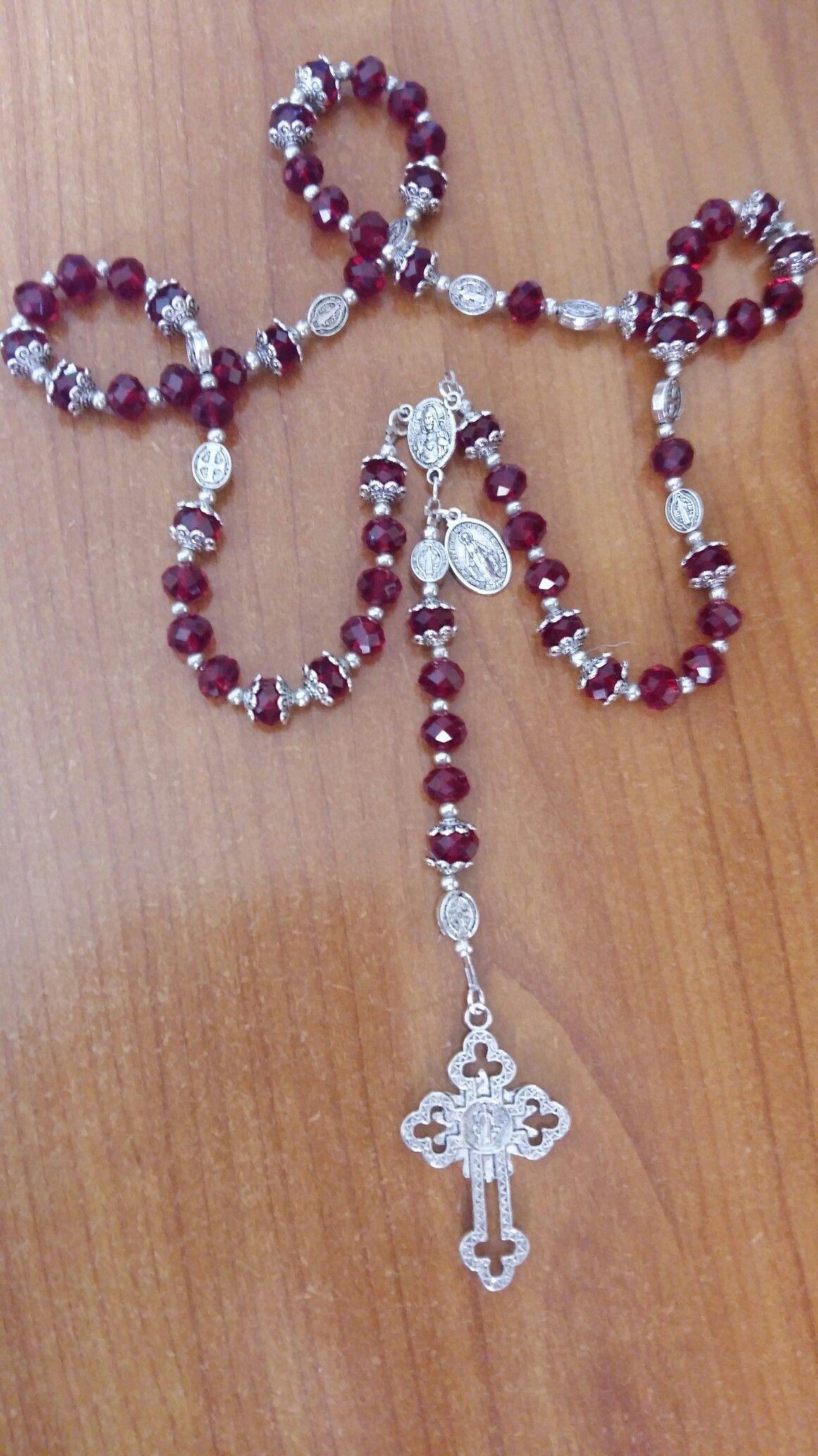 856d915040a Rosario Católico. Cristales y pewter