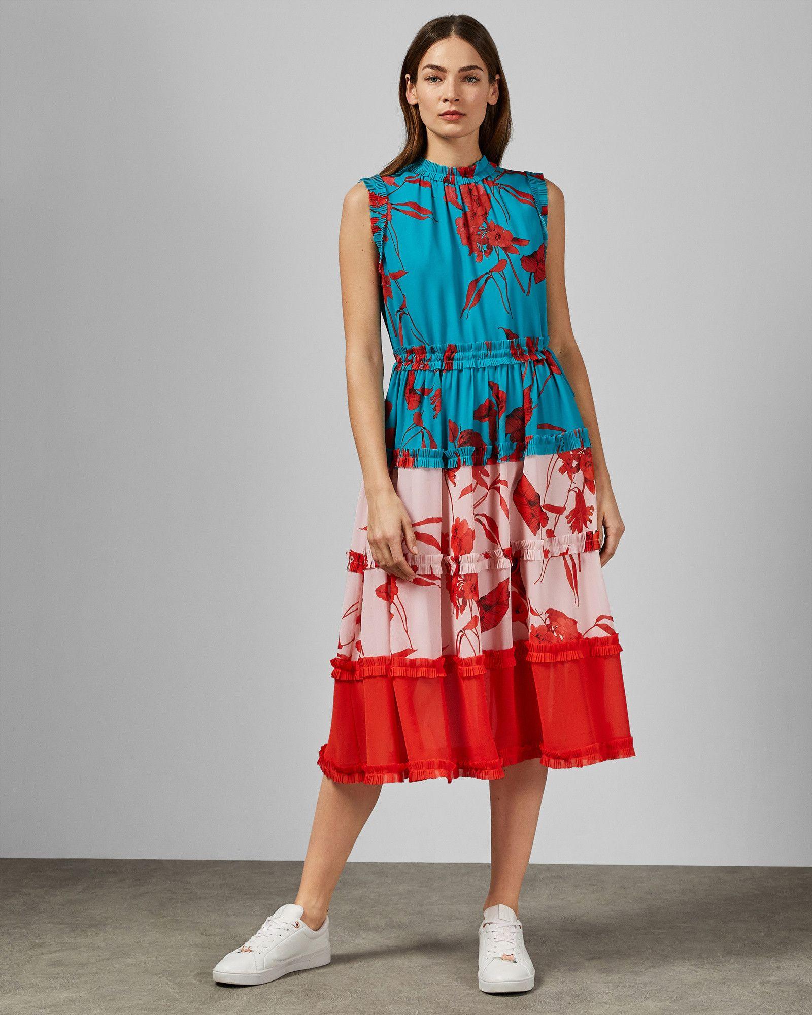 b4dbb72dd6 Fantasia Tiered Midi Dress. CAMELIS Fantasia tiered midi dress #TedToToe  Green Midi Dress, Ted Baker ...