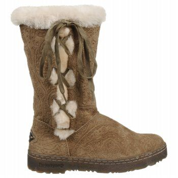 Love the lacing and gorgeous sheepskin - Bearpaw Bristol. Not technically a wide but I know I can go up a half size and they should fit.