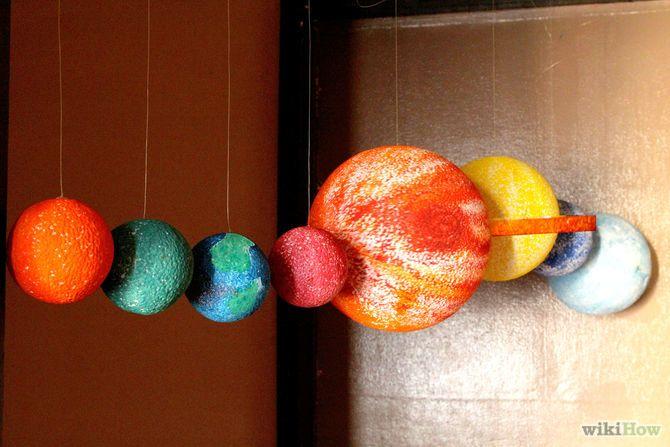 Cómo hacer un móvil del Sistema Solar vía es.wikihow.com