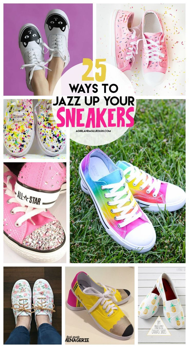 Fun ways to decorate your sneakers! | Seamstress | Schuhe