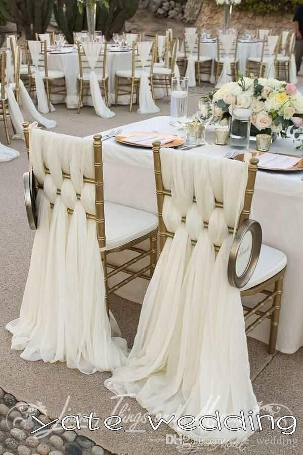 53 Cool Wedding Chair Decor Ideas With Fabric And Ribbon Gold Chairs White Woven Covers