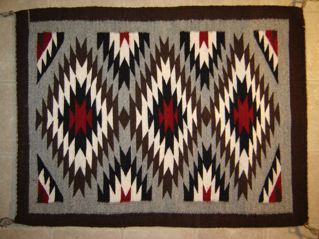 Authentic Navajo Rugs traditional designs weaver Zonnie Deschene