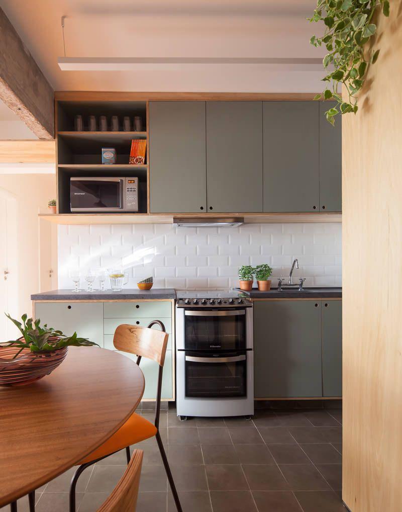 Reformar o antigo apartamento com uma cozinha integrada | Cozinhas  domésticas, Decoração cozinha, Cozinhas modernas