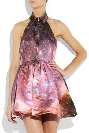 Christopher Kane Galaxy Print Halter Dress
