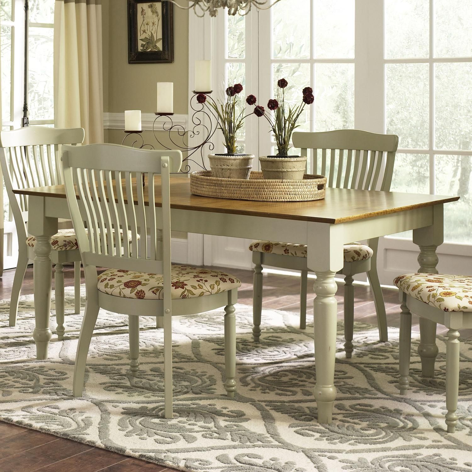 Custom Kitchen Tables: Country Estate Customizable Rectangular