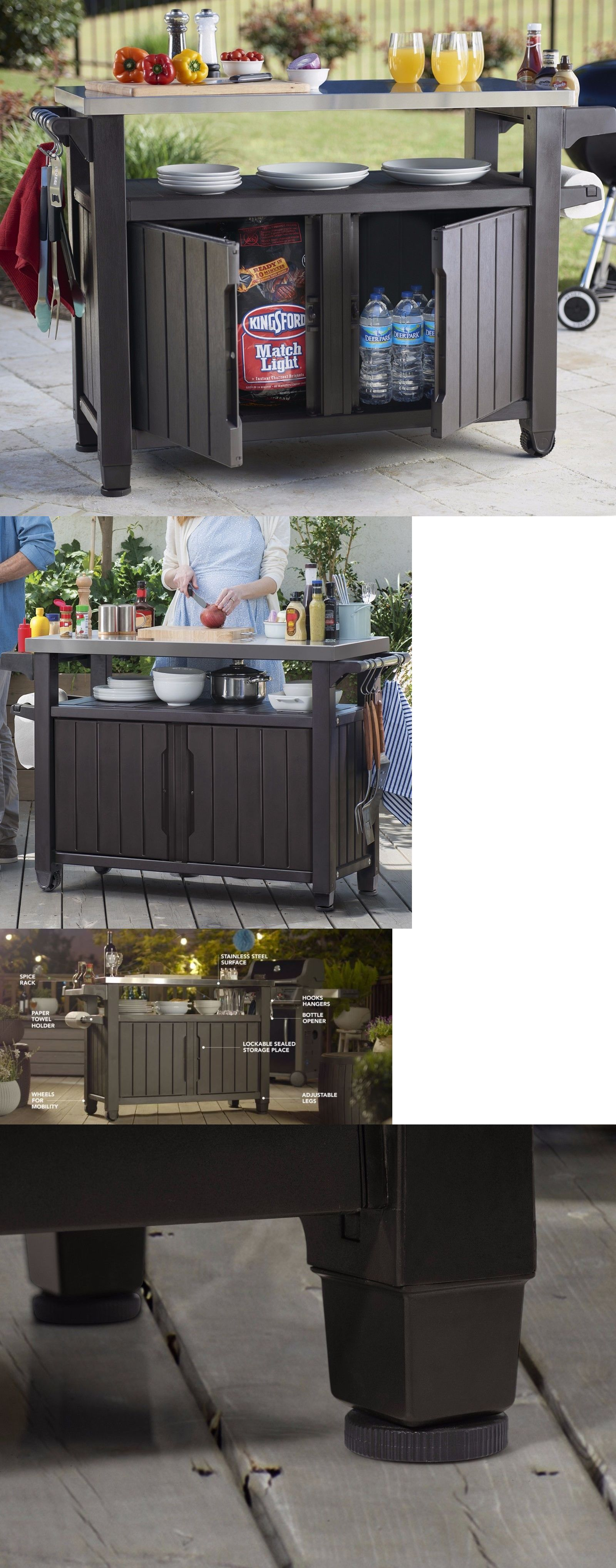 Other patio and garden furniture outdoor bar cart serving