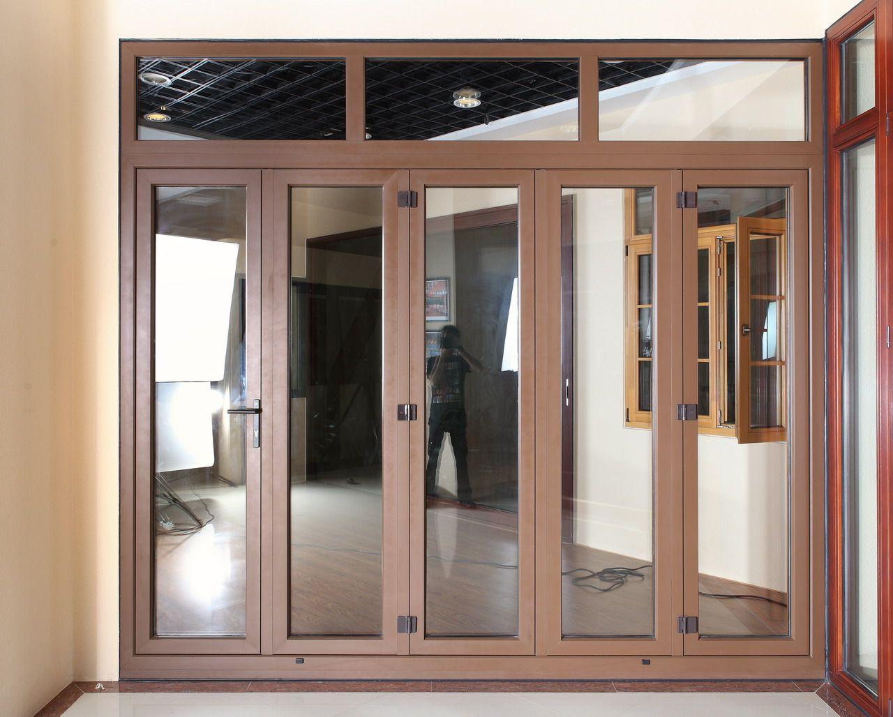 Aluminum Clad Wood Bifold Door In 2020 Bifold Doors Clad Wood Glass Bifold Doors