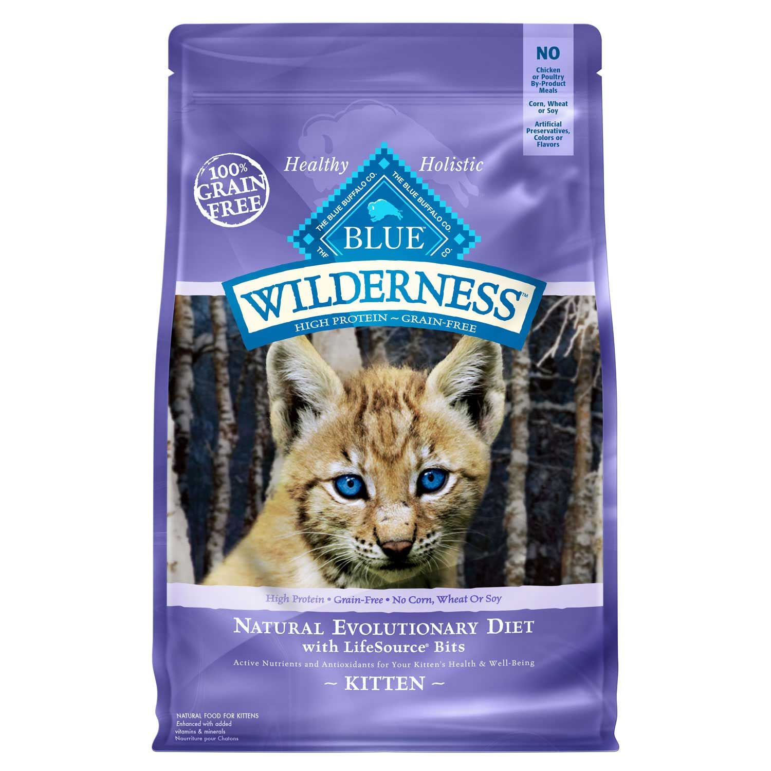 Blue Buffalo Wilderness Natural Kitten High Protein Grain Free Chicken Dry Cat Food 5 Lbs Petco In 2020 Kitten Food Dry Cat Food Blue Buffalo