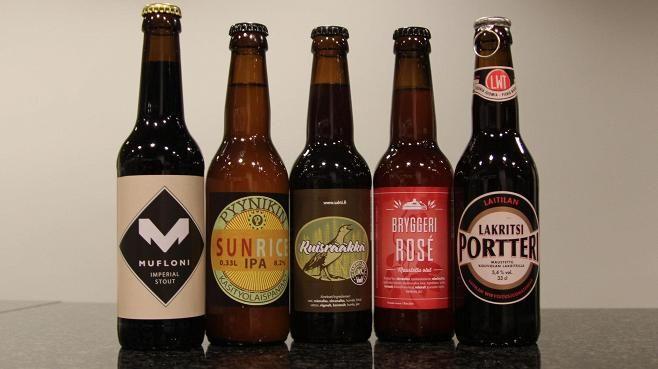 Viisi suostusta, viisi toisistaan poikkeavaa olutta.