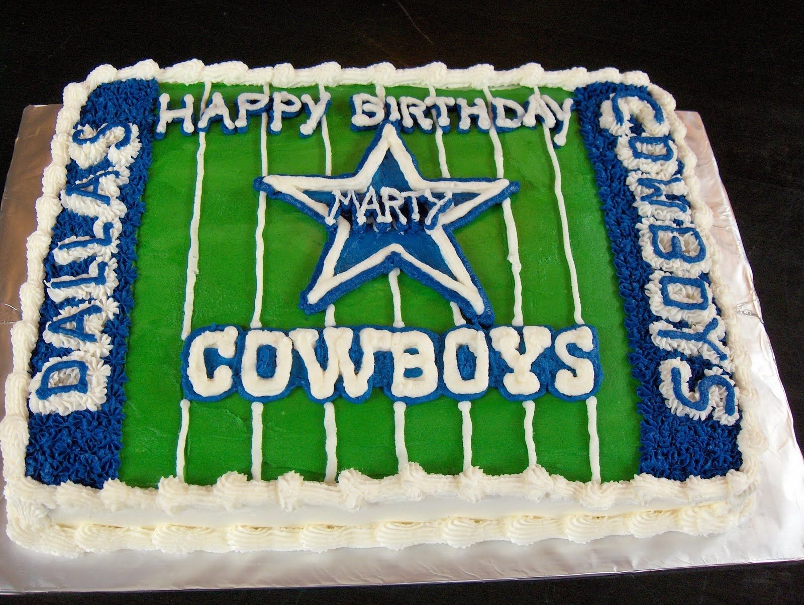 How To Make A Dallas Cowboys Star Cake