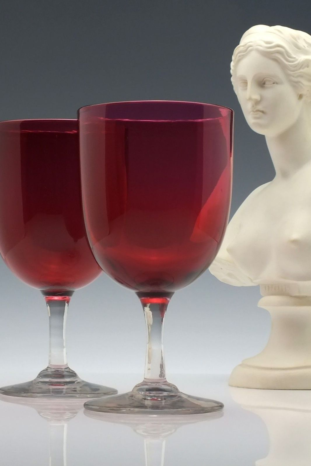 Visit Exhibit Antiques Online To Shop Our Full Collection Pair Antique 19th Century Victorian Cranberry Win Exhibit Shop Antique Drinking Glasses In 2019