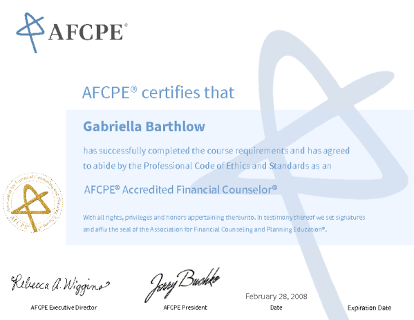 AFC® certification marks the highest standards of excellence in the ...